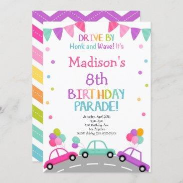 drive by invitation, birthday parade invitation