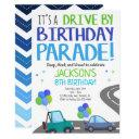 drive by invites, birthday parade invitation