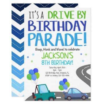 drive by invites, birthday parade invitation