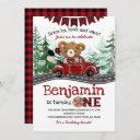 drive by lumberjack bear invitation