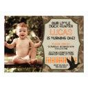 duck hunting birthday invitation with photo - camo