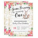 easter bunny birthday floral invitations