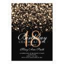 elegant 18th birthday party gold midnight glam invitation