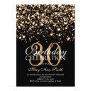 elegant 30th birthday party gold midnight glam invitations