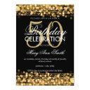 elegant 50th birthday party sparkles gold invitation