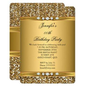 elegant gold glitter look diamond birthday party