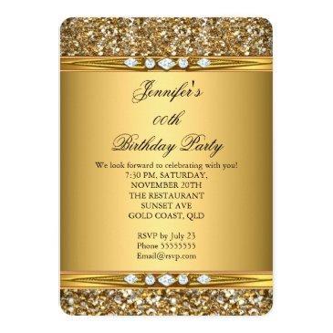 elegant gold glitter look diamond birthday party