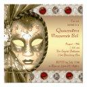 elegant red and gold masquerade party invitation