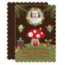 enchanted garden birthday invitation