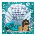 ethnic mermaid under the sea birthday party invitation