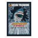 extreme shark boys birthday party invitation