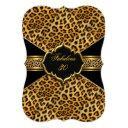 fabulous 30 gold black leopard 30th birthday 2 invitation