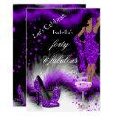 fabulous 40 lady purple champagne birthday party invitations