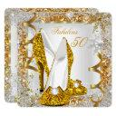 fabulous 50 glitter gold birthday party invitations