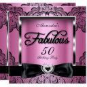 fabulous 50 party pink damask black lace invitations