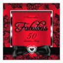 fabulous 50 party red damask black lace invitation