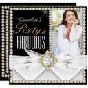 fabulous 60 photo elegant diamond gem birthday invitation