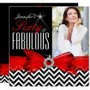 fabulous 60 red chevron black white birthday 2 invitations