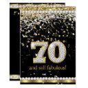 fabulous 70 gold silver streamers 70th party invitations