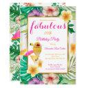 fabulous tropical cocktail floral party invitation