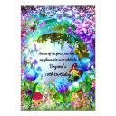 fairy forest enchanted magical birthday party invitation