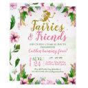 fairy garden magical enchanted floral birthday invitation