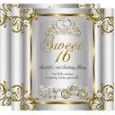 fairytale sweet 16 16th birthday gold silver 3 invitations