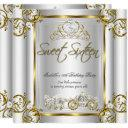 fairytale sweet 16 16th birthday gold silver invitation