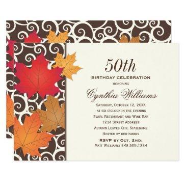 fall birthday celebration | autumn leaves invitations