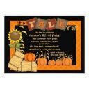 fall pumpkin picking party invitations