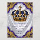 fancy prince birthday party invitation