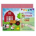 farm animals | barnyard birthday party invitations