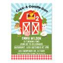 farm barnyard animals 2nd birthday invitations