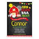 farm birthday invitations, chalkboard invite