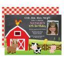 farm birthday invitations country barnyard party