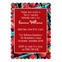 farm-fresh strawberries birthday party invitation