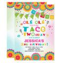 fiesta 2nd birthday invitations taco twosday party