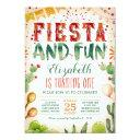 fiesta and fun | summer birthday party invitations