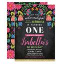 fiesta birthday invitations, chalkboard invitations