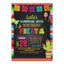 fiesta birthday invitation - sarape border