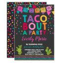 fiesta birthday invitations taco bout a party