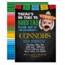 fiesta, cinco de mayo birthday with photo invitations