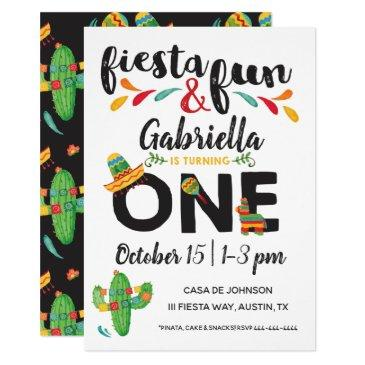 fiesta first birthday invitation