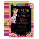 fiesta floral 1st birthday invitation