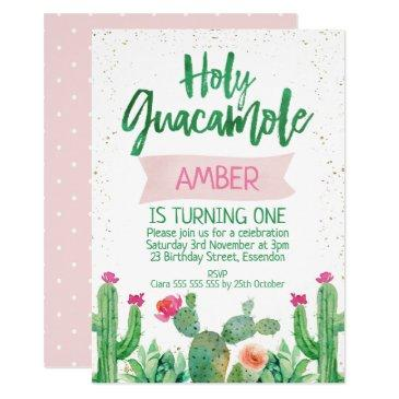 fiesta holy guacamole birthday invitations