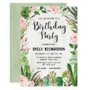 fiesta succulent floral birthday party invite