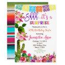 fiesta surprise birthday party invitations