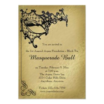 filigree masquerade mardi gras ball invitations