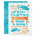 fin-tastic whale shark birthday invitation
