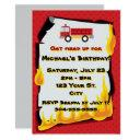 fire department birthday party invitation